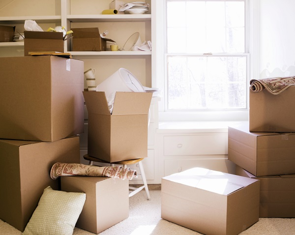 Use cardboard boxes when moving house