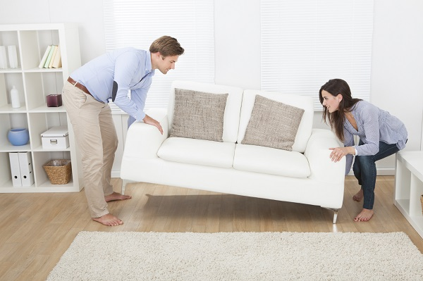 Move your furniture first when moving house