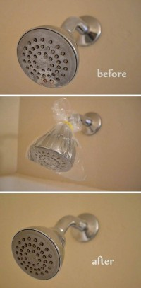 shower head cleaning hack