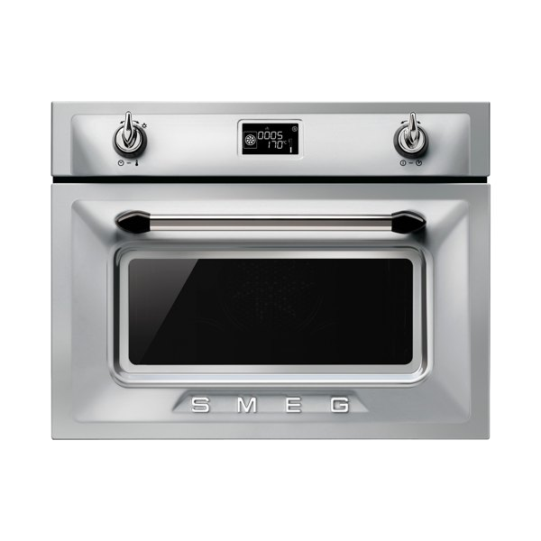 Smeg SF4920MCX Victoria Integrated Compact Combi Microwave Oven Stainless Steel small