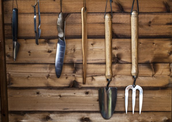 garden-tools-in-shed